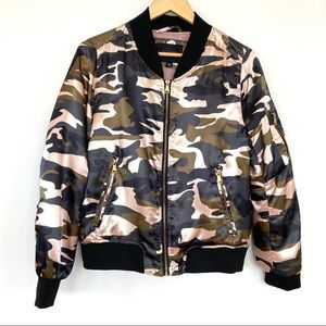 Miss London urban camo bomber jacket